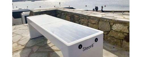 Μύκονος: Ηλιακά παγκάκια μετατρέπουν την ηλιακή ενέργεια σε ηλεκτρική