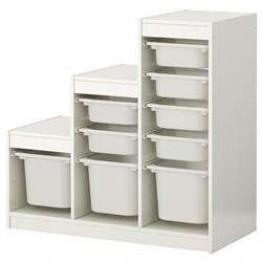 TROFAST Αποθηκευτικός συνδυασμός με κουτιά